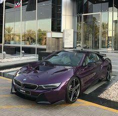 BMW i8 purple