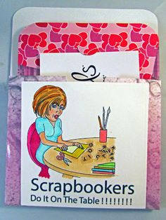 Chriss used 'Crafter's Do It' digital stamp and paper pack for this card holder and 'Crafters Sentiment Pack'