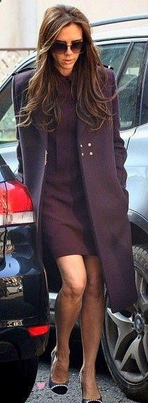 Coat, Dress Sunglasses   Victoria Beckham Collection.