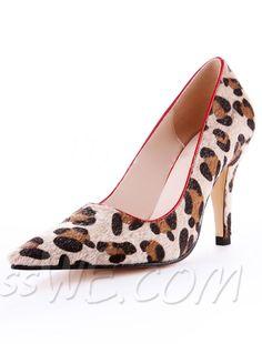 $56.99 Dresswe.com SUPPLIES European Style Point Toe Leopard Print Low Heel Pumps #Dresswe #fashion pumps #cute #pretty