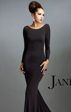 Beaded Full Sleeved Gown by Janique K6470
