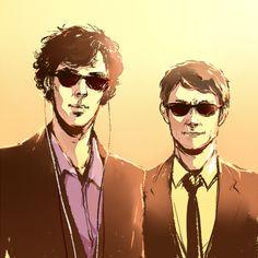 Mr. Purple (Sherlock Holmes) and Mr. Gold (John Watson) - Sherlock