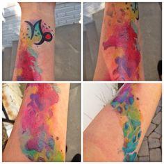Pawprint watercolor tattoo © Ray Tattoo, Pawprint, Skin Art, Watercolor Tattoo, Stained Glass, Windows, Tattoos, Tatuajes, Tattoo