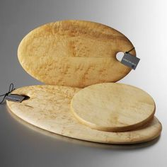 Edward Wohl's hand-turned Birdseye Maple Bread boards are beautiful. Having one would make me very happy.