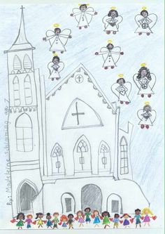 This is a picture a student of mine drew today here in Charleston, SC. I am very proud of her and her mother clearly did an amazingly tender job of explaining a horrible act. I just thought it should be shared.