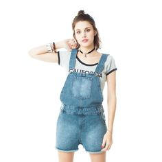 cc141b41078  DenimDress USKEES CLAIRE Short Denim Dungaree Dress - Darkwash Relaxed Fit  overall playsuit - Denim