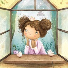Cute Cartoon Girl, Cartoon Art, Children's Book Illustration, Character Illustration, Pretty Drawings, Whimsical Art, Art Pictures, Cute Art, Art For Kids