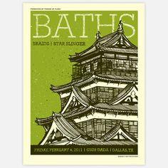 Fab.com | Baths Concert Poster 18x24