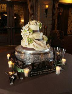 amazing wedding cakes | Amazing cake : wedding bouquet brown cake flowers green inspiration ...