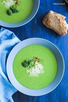 SUPĂ CREMĂ DE BROCCOLI I Rețetă + Video Diet Recipes, Cooking Recipes, Yummy Recipes, Broccoli, Meal Planning, Food And Drink, Soup, Yummy Food, Vegan