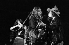 On stage with Scarlet Rivera and Roger McGuinn