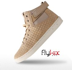 Tan Full-grain imported Italian suede with basket weave emboss, velcro side closure, waxed cotton laces, rubber cupsole  #mensshoes #menssneakers #fashion #urbanfashion #mensfashion #flykix