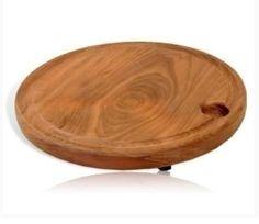 Tábua artesanal para Churrasco redonda - 40 cm - Tudo para boteco