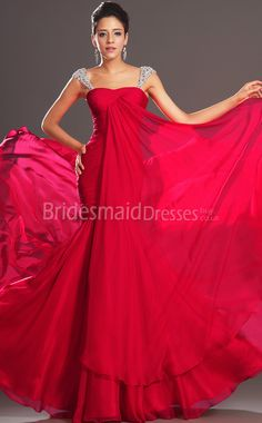 2a46353ecdbab0 Sexy Chiffon Trumpet Mermaid Off The Shoulder Floor-length With Beading Red  Bridesmaid Dresses