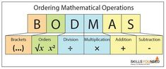 BODMAS - Rules of Ordering in Mathematics. Brackets, Orders, Division, Multiplication, Addition and Subtraction. Math Tutor, Teaching Math, Math Resources, Math Activities, Algebra, Calculus, Gcse Maths Revision, Revision Tips, Revision Notes