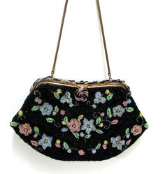 Vintage Beaded Handbag Hand Made in France 1950s by CoconutRoad, $25.00