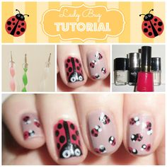 Spring is around the corner and it's only right to get a Lady Bug Nail design! Here's an Art Tutorial