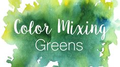 Welcome to the first episode of our new series, Color Mixing! The purpose of this series is to learn how to mix secondary colors as well as browns and neutra...