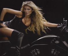 Marissa Miller on a Harley | How to get Marisa Millers hair? 18″ – 20″ clip in, Remy hair ...