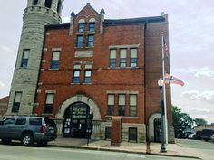 Stoughton, WI City Hall.  They love the Norwegian flag.