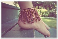 fringe anklet. wear over slippers?