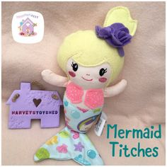This little lovelies are the Mermaid Titches They are handmade to order in designer fabrics of your choosing These can be in any colours or themes Dolls And Daydreams, Handmade Soft Toys, Small Baby, Soft Dolls, Baby Toys, Fabric Design, Hello Kitty, Plush, Mermaid