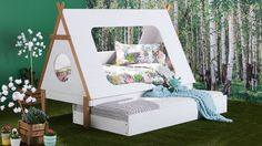 Home :: Bedroom :: Kids Bedroom :: Kids Beds :: Tee Pee Kids Trundle Bed