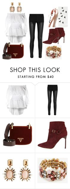 """Wine boots"" by olia7805 on Polyvore featuring Givenchy, Prada, Manolo Blahnik, Oscar de la Renta and Ann Taylor"