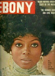 diana ross on the cover of ebony magazine 1970 Jet Magazine, Black Magazine, Ebony Magazine Cover, Magazine Covers, Dona Summer, John Johnson, Essence Magazine, Vintage Black Glamour, Diana Ross