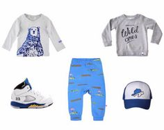 What shirt to wear with these crocodile pants today? #noeser #blue #crocodile #baggypants with #jr_cooper_ #impsandelfs #nike #jordan #tinyturtlecaps #outfit #ootd #baby #babyboy #toddler #cool #coolkids #cute #weekend #countdown #loveit #familytime