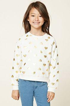 Girls Heart Sweatshirt (Kids)