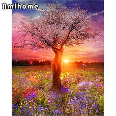100% DIY 5D Diamond Mosaic People Tree Handmade Diamond Painting Cross Stitch Kits Diamond Embroidery Pattern Rhinestone HC1852