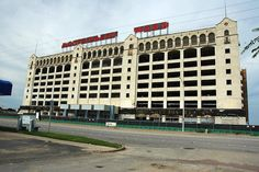 The old Montgomery Ward building (before it became Montgomery Plaza).  Used to be warehouses and loading docks behind it - my dad worked there for a time, and so did Lee Harvey Oswald.