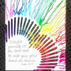 Crayon melting art I made for Mother's Day