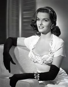 Jane Russell vintag, fashion, the dress, hollywood, glove, beauti, jane russell, actress, janerussel