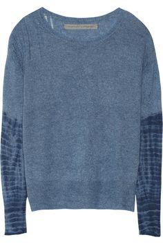 Raquel Allegra|Tie-dyed cashmere sweater|NET-A-PORTER.COM