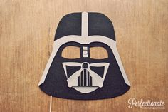 Darth Vader Helmet Photo Prop on a Stick // Star Wars Theme Prop // Stiff Felt Prop // Star Wars Theme Wedding Favor