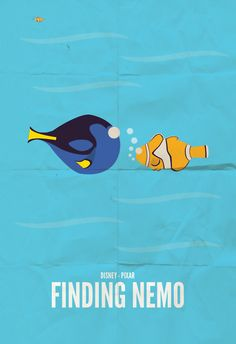 Finding Nemo minimalist poster art
