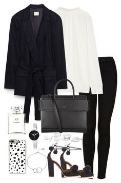 """""""Untitled #3428"""" by theeuropeancloset on Polyvore featuring Topshop, Marni, Aquazzura, Givenchy, Chanel, GUESS, Casetify, Christian Van Sant and Chupi"""