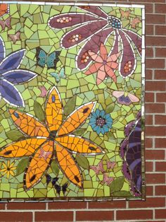 1000 images about mosaic mural making intensive april for Butterfly garden mural