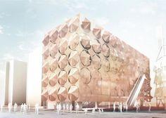 Striking Corten Steel Umbrellas to Shade Madrid's 2010 Shanghai Pavilion