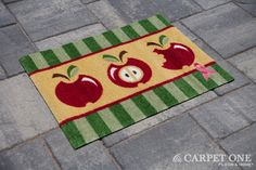 Apple of my Eye | Pink Ribbon Welcome Mats