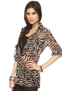 $27.80   Sheer Animal Print Shirt   FOREVER21 - 2000049011