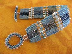 Herringbone turquoise - le blog alcaline.bijoux.et.perles