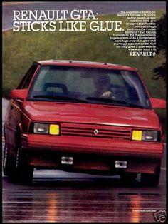 Vintage Car Advert for Renault GTA  (1987)