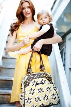 LOVE these diaper bags. fashionable and practical.