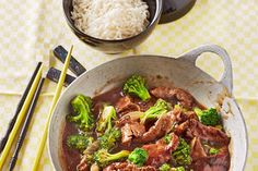 Asiatische Rindfleisch - Brokkoli - Pfanne
