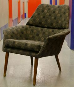 Vintage 1950s reupholstered Danish armchair - in a funkier fabric...