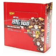 I'm learning all about Met-rx Big 100 Colossal Meal Replacement Bars Rocky Road Cookie Dough at @Influenster!