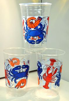 20 oz clear disposable cups printed in seafood boil design with blue crabs, red . 20 oz clear disposable cups printed in seafood boil design with blue crabs, red . Shrimp Boil Party, Crawfish Party, Crab Party, Seafood Party, Lobster Party, Seafood Broil, Seafood Bake, Seafood Recipes, Lobster Boil